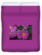 Fall Flowers In Bloom Duvet Cover