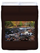 Fall Forest And River Landscape Duvet Cover