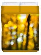 Fall Forest In Sunshine Duvet Cover