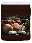Fall Harvest Colorful Gourds 7965 Duvet Cover