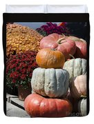Fall Harvest Colorful Gourds 7968 Duvet Cover