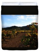 Fall In A Sonoma Vineyard Duvet Cover