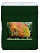 Fall In Michigan Duvet Cover by Optical Playground By MP Ray