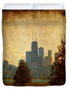 Fall In The City Duvet Cover