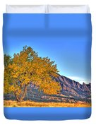 Fall In The Flatirons Duvet Cover