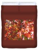 Fall Leaves - Digital Art Duvet Cover