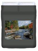 Fall On Swift River Duvet Cover