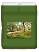 Fall Park Duvet Cover