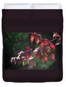 Fall Red Duvet Cover
