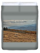 Fall Scene On Whitetop Mountain Va Duvet Cover