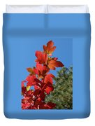 Fall Snowball Branch Duvet Cover