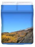 Fall Talkeetna Mountains Duvet Cover