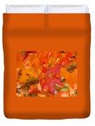 Fall Tree Leaves Art Prints Orange Red Autumn Duvet Cover