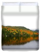 Fall View Of Saco Lake And Elephants Head Duvet Cover