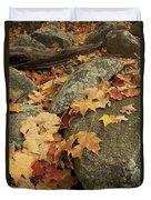 Fallen Autumn Sugar Maple Leaves Duvet Cover