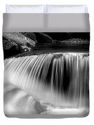 Falling Water Black And White Duvet Cover