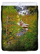 Falling Waters House Setting Duvet Cover