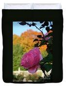 Fall's Final Rose Duvet Cover
