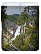 Falls In The Grand Canyon Of Yellowstone Duvet Cover