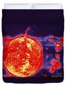 False-color Skylab Image Of A Solar Duvet Cover by NASA / Science Source
