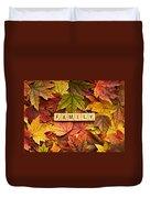Family-autumn Inpsireme Duvet Cover
