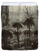 Family Walking Through A Forest Of Tree Duvet Cover