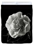 Fancy Camellia In Black And White Duvet Cover