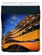 Fancy Cardiff Carpark Facade Duvet Cover