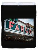 Fargo Theatre Sign In North Dakota Duvet Cover