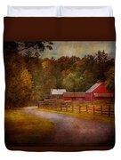 Farm - Barn - Rural Journeys  Duvet Cover by Mike Savad