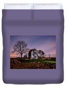 Farm House At Night Duvet Cover