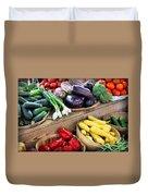 Farmers Market Summer Bounty Duvet Cover