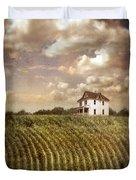 Farmhouse And Cornfield Duvet Cover