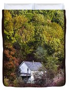 Farmhouse In Fall Duvet Cover
