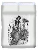 Farming: Corn Husker Duvet Cover
