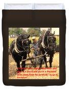 Farming Looks Easy Duvet Cover by Ian  MacDonald