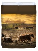 Farming Rain Race Duvet Cover