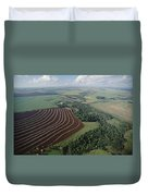 Farming Region With Forest Remnants Duvet Cover