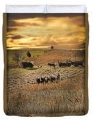Farming To Beat The Storm Duvet Cover