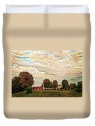 Farms From The Fifties Duvet Cover