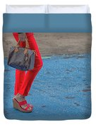 Fashionably Red Duvet Cover