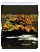 Fast Flowing Water And Fall Colours Duvet Cover