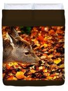 Fawn In Autumn Duvet Cover