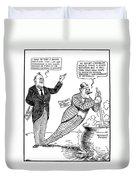 F.d. Roosevelt Cartoon Duvet Cover