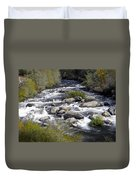 Feather River White Water Duvet Cover