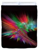 Feathery Bouquet On Black - Abstract Art Duvet Cover