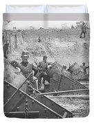 Federal Siege Guns Yorktown Virginia During The American Civil War Duvet Cover