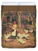 Feeding The Ducks Duvet Cover