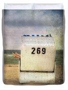 Feet And Beach Chair Duvet Cover by Joana Kruse