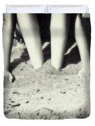 Feet In The Sand Duvet Cover
